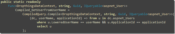 Converting a Linq Query to Compiled Query