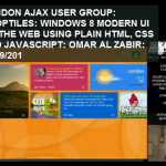 Talk on replicating Windows 8 modern UI on web using HTML, JS and CSS