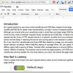 Google Docs to clean html, good for WordPress posts, emails