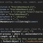 Build, deploy, anonymize config, zip package, git commit, push from a single command